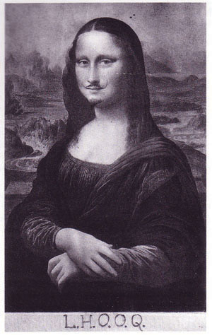 Source: https://upload.wikimedia.org/wikipedia/en/6/6e/Marcel_Duchamp_Mona_Lisa_LHOOQ.jpg